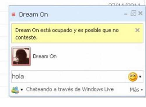 Ventanas en hotmail messenger