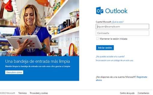 nuewvo outlook para iniciar sesion